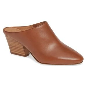 Halogen Nordstrom Tan Leather Brielle Mules Size 9